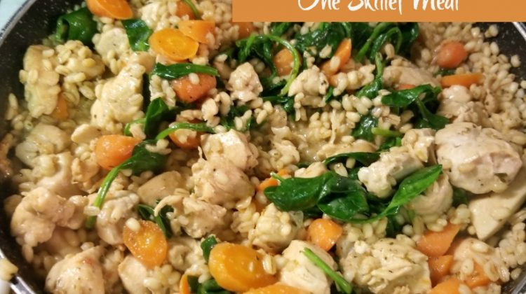 Lemon Chicken with Barley- New #KnorrMealStarters #Wegmans #HealthyDinner