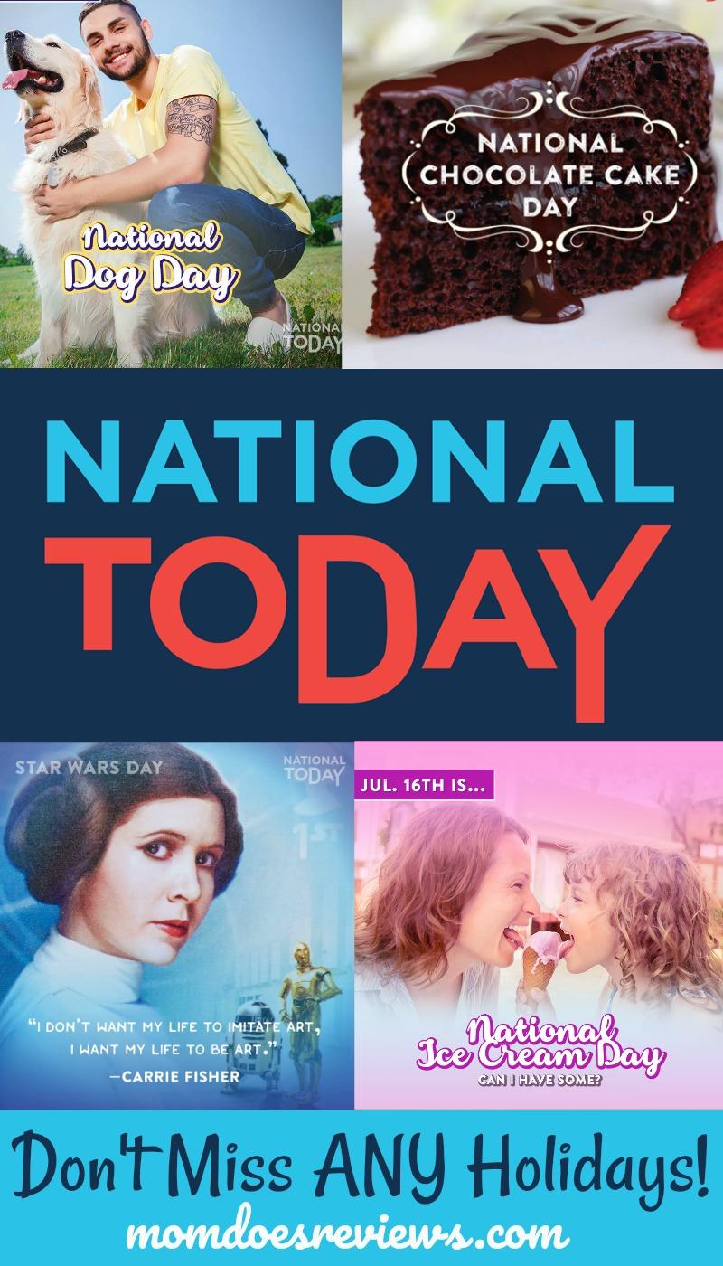 National Today Holidays #NationalToday #ad