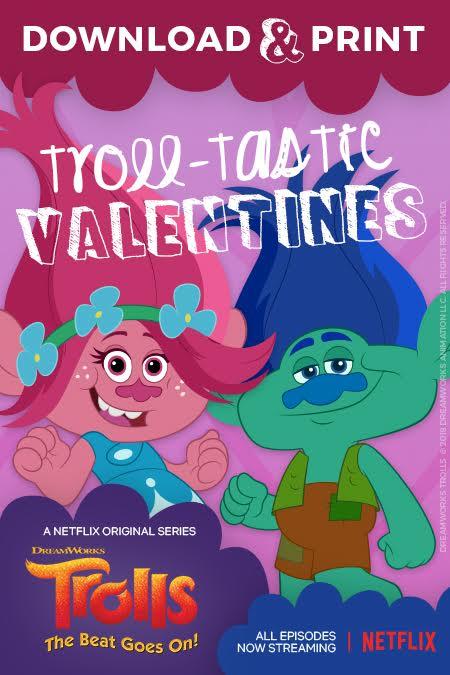 Trolls Vday cards