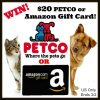Win $20 Petco or Amazon gc