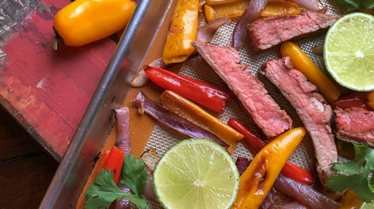 Sheet Pan Beef Fajitas