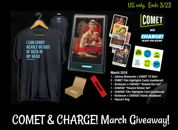 COMET & CHARGE! March Giveaway!