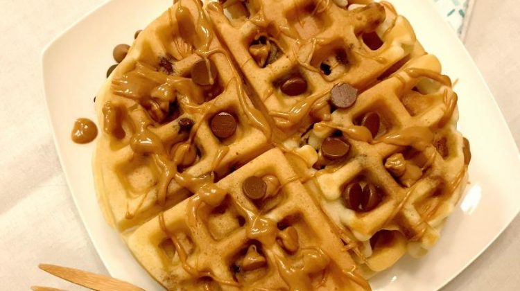 Day 10 of our #EasterSweetsandTreats – PB Chocolate Chip Waffles