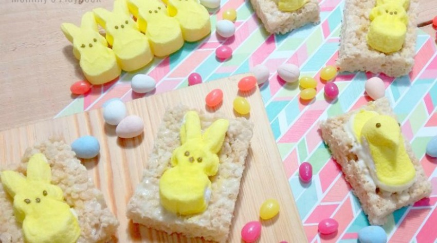 Rice Cereal Easter Peeps Treats Recipe