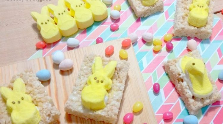 Day 9 of our #EasterSweetsandTreats – Easter Peep Rice Krispie Treats