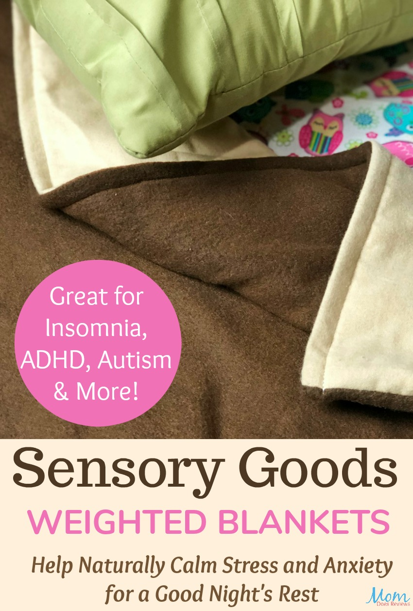 Sensory Goods Weighted Blankets Help Naturally Calm Stress and Anxiety for a Good Night's Rest #giftsformom18