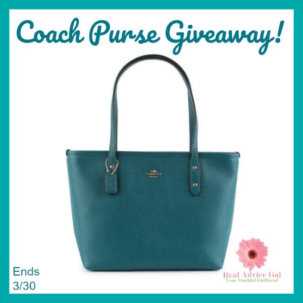 Win a Teal Coach Purse