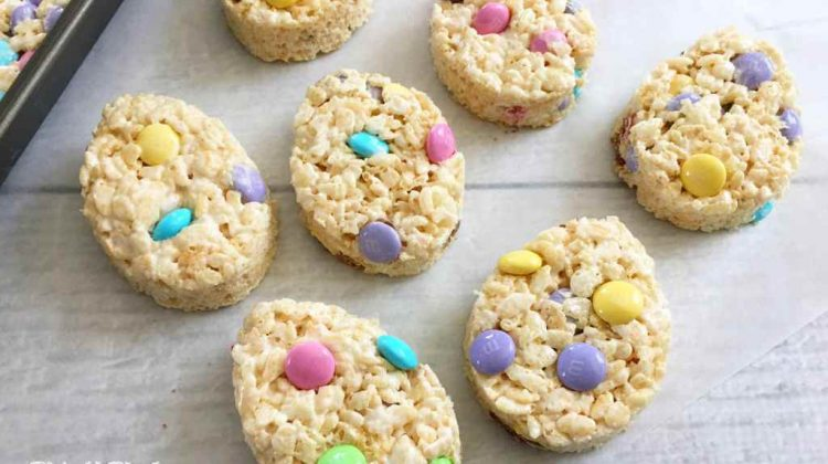 Day 7 of our #EasterSweetsandTreats – Easter Egg Rice Krispie Treats