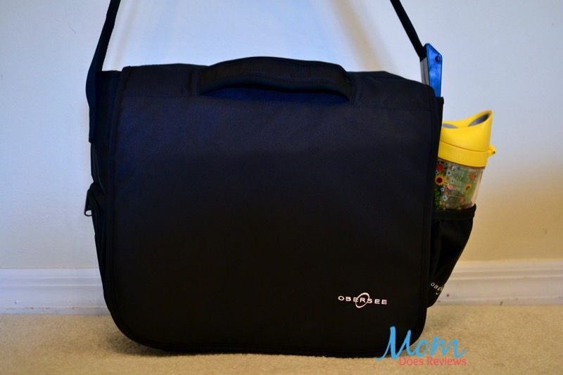 diaper bag with water bottle