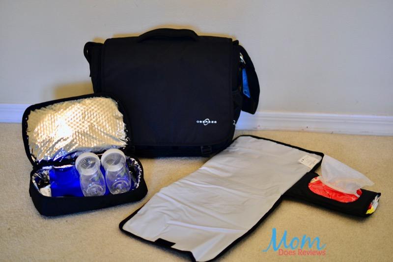 black Obersee diaper bag