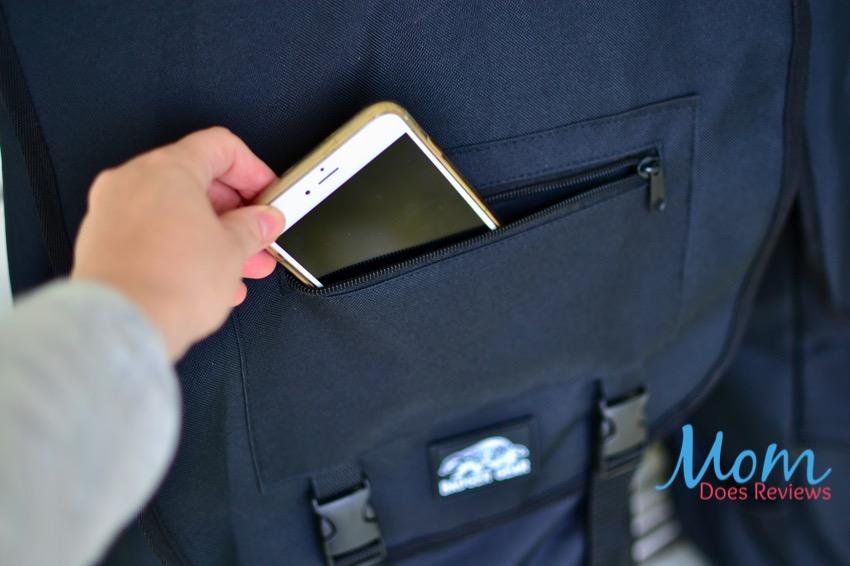 bottomless bag pocket for cell phone