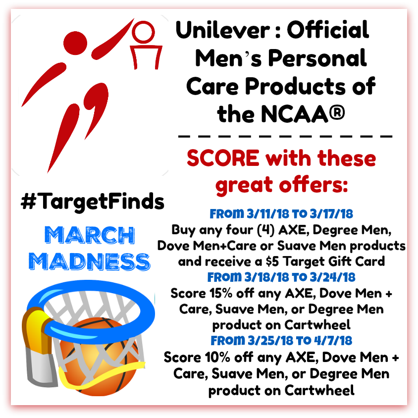 score with unilever products during march madness at