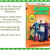Aliens at my Homework DVD