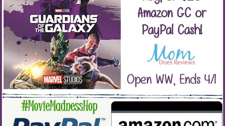 #Win Guardians of the Galaxy on Blu-Ray or $20 Paypal or Amazon, WW ends 4/1 #moviemadnesshop