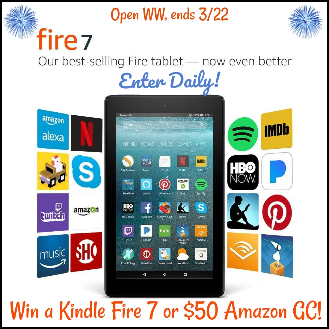 Win Kindle Fire 7