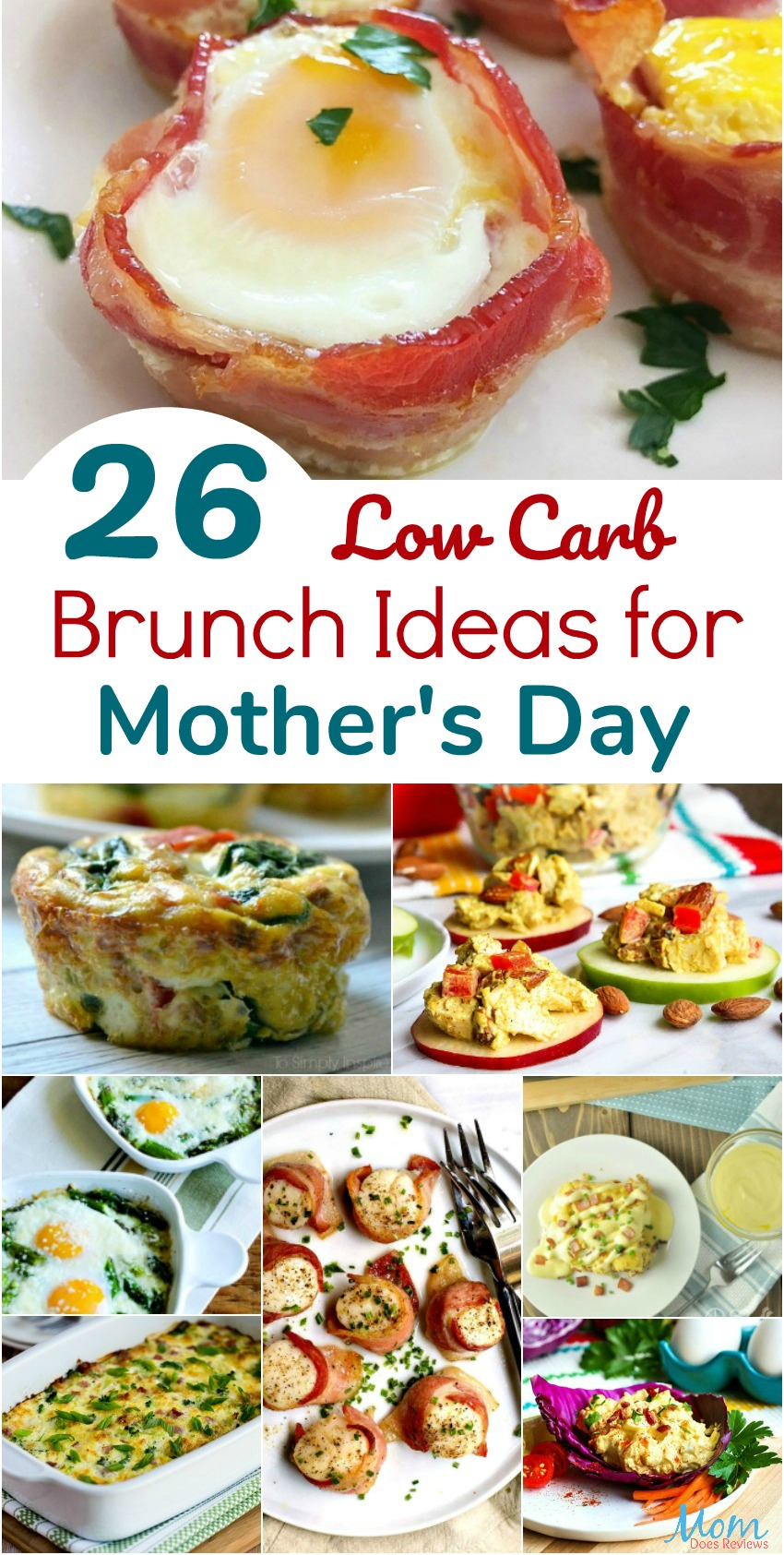 26 Low Carb Brunch Ideas for Mother's Day banner