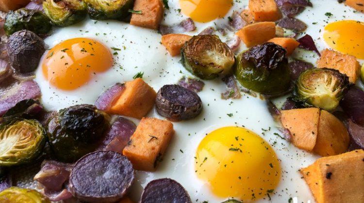 Sweet Potato Breakfast Hash- Sheet Pan Recipe