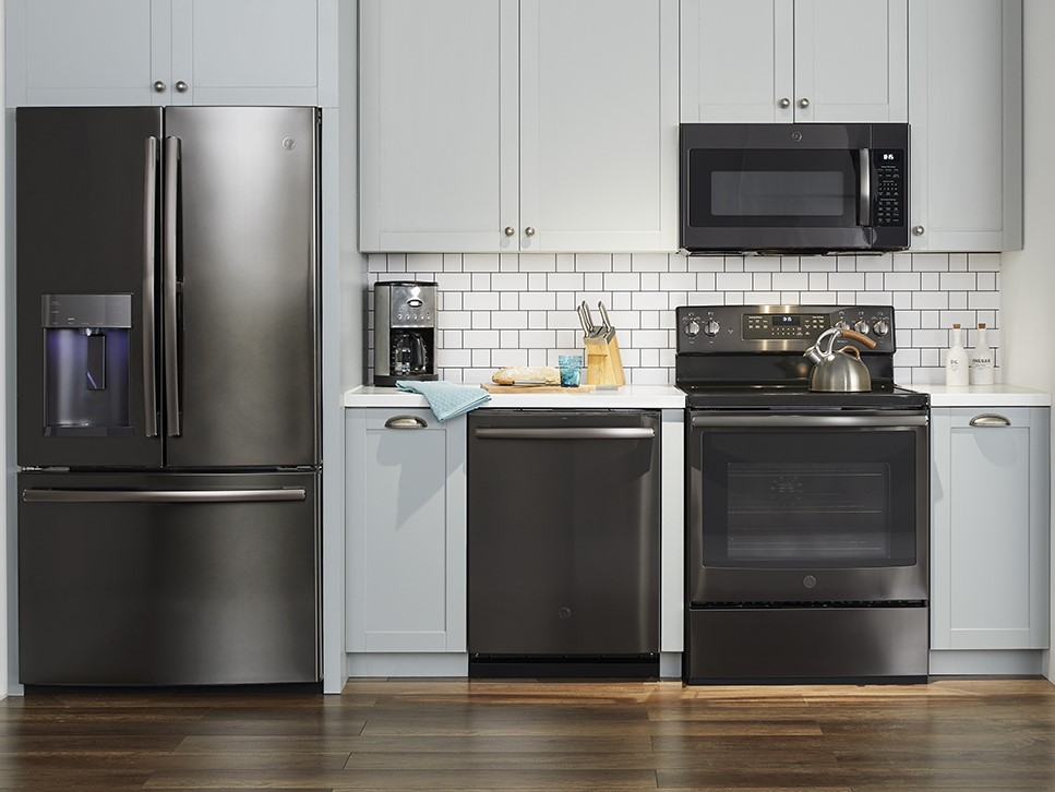 GE Black Stainless Kitchen