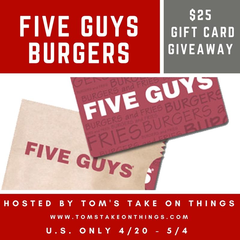 Win $25 Five Guys Burger