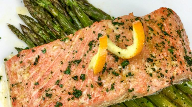 Orange-Glazed Salmon with Asparagus