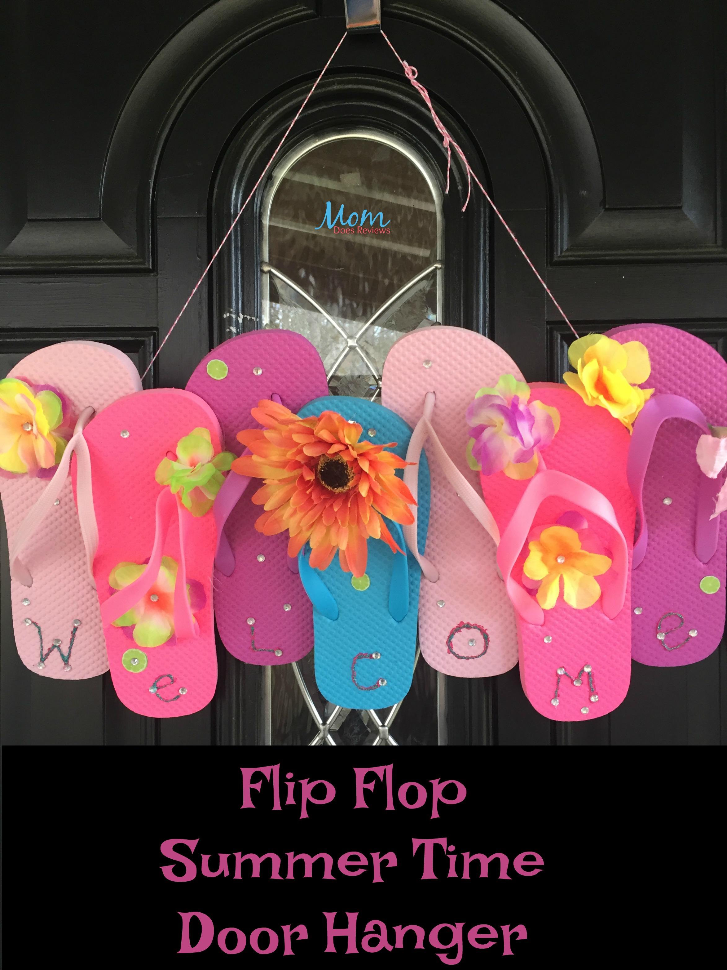 make a fun flip flop summer time door hanger craft