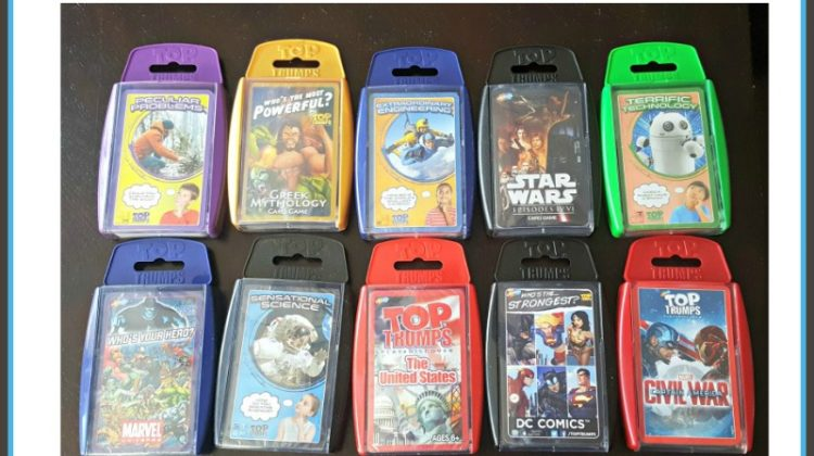 #Win Your Choice 5 Game Decks from Top Trumps Open to USA, ends 4/29