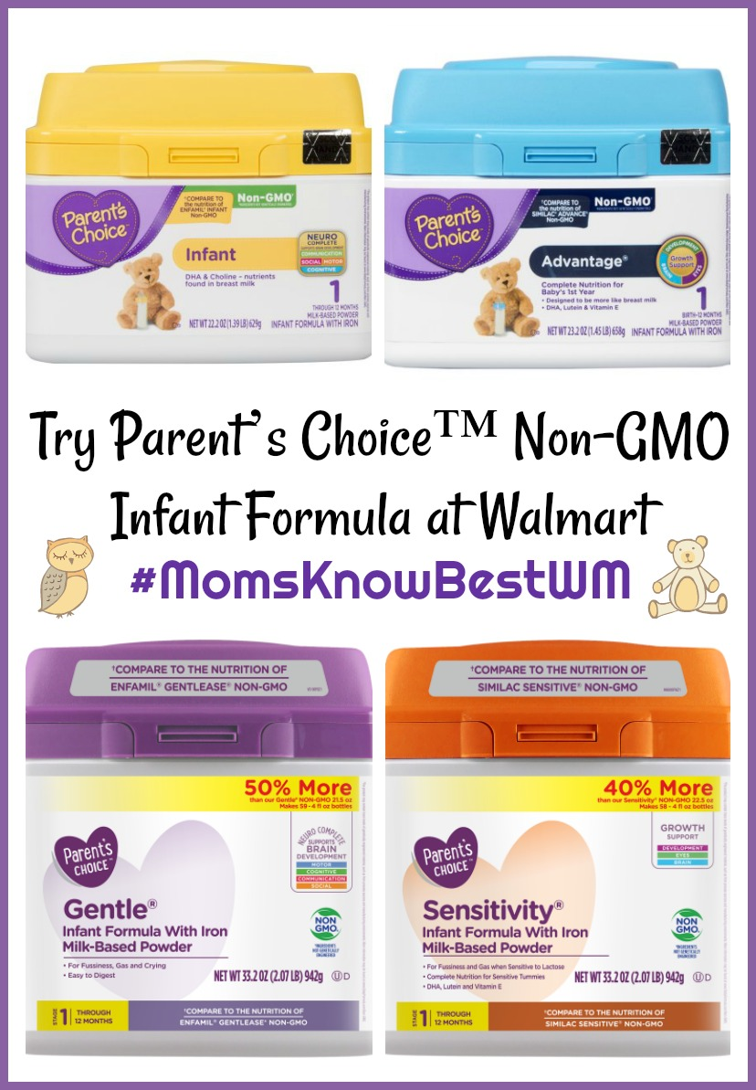Try Parent's Choice Non-GMO Infant Formula at Walmart #MomsKnowBestWM