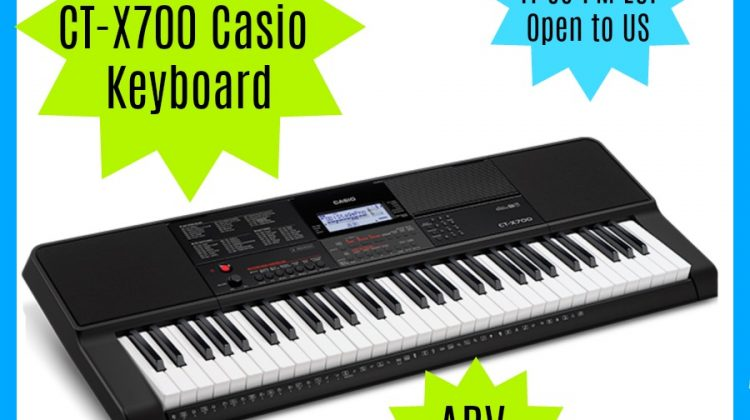 #Win Casio CT-X700 Keyboard Open to US, ends 5/12/18