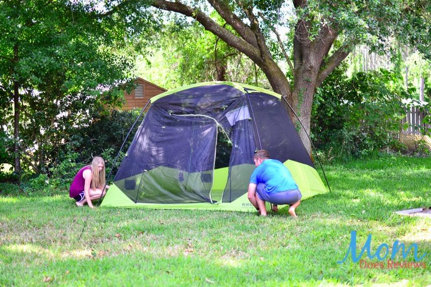 mesh tent setup