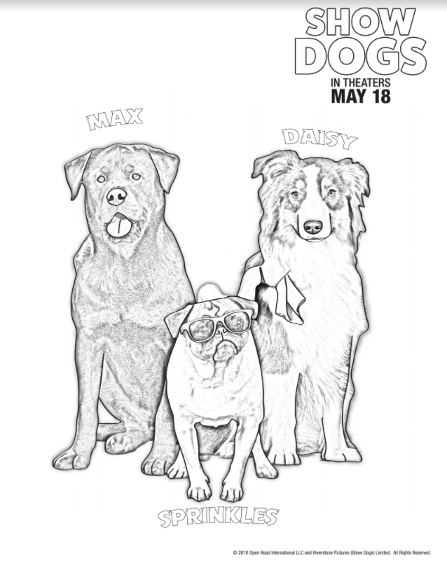 SHOW DOGS Coloring Sheets Printables