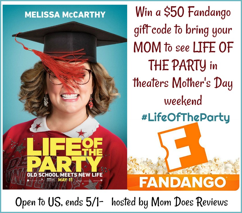 Win $50 Fandango GC to see LIFE OF THE PARTY #ad