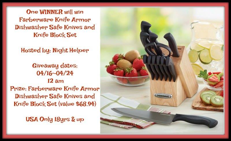 Farberware Knife Armor Dishwasher Safe Knives and Knife Block Set (value $68.94)
