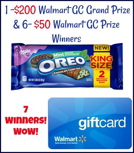 7 Winners Walmart GCs