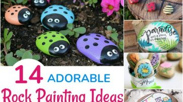 14 Adorable Rock Painting Ideas that will make you smile