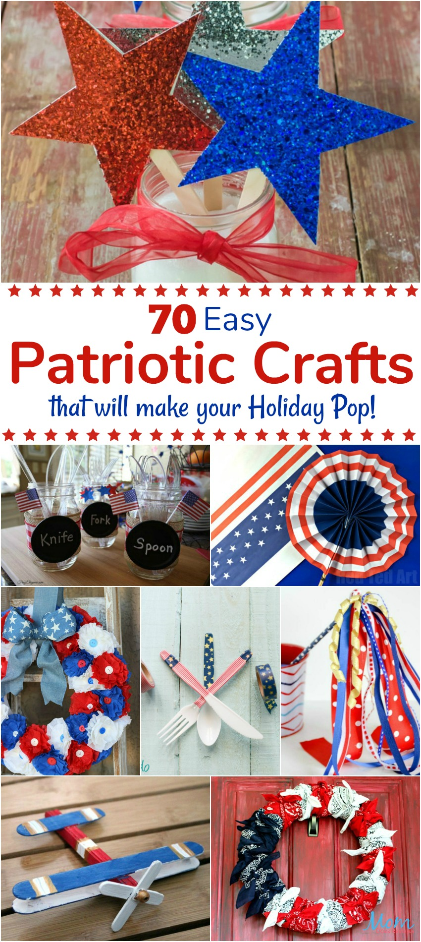 70 easy patriotic crafts that will make your holiday pop for Americana crafts to make
