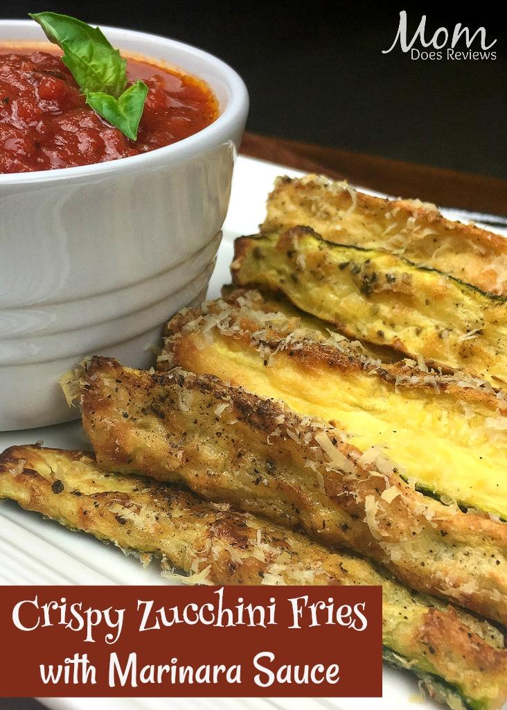 Crispy Zucchini Fries with Marinara Sauce #recipe