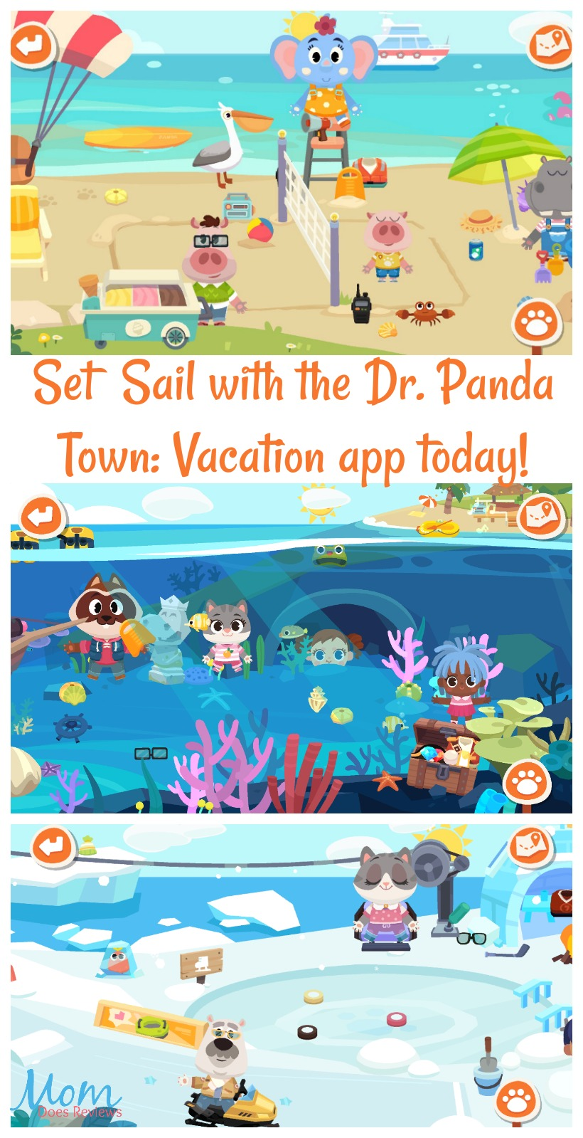 Dr. Panda Town: Vacation app