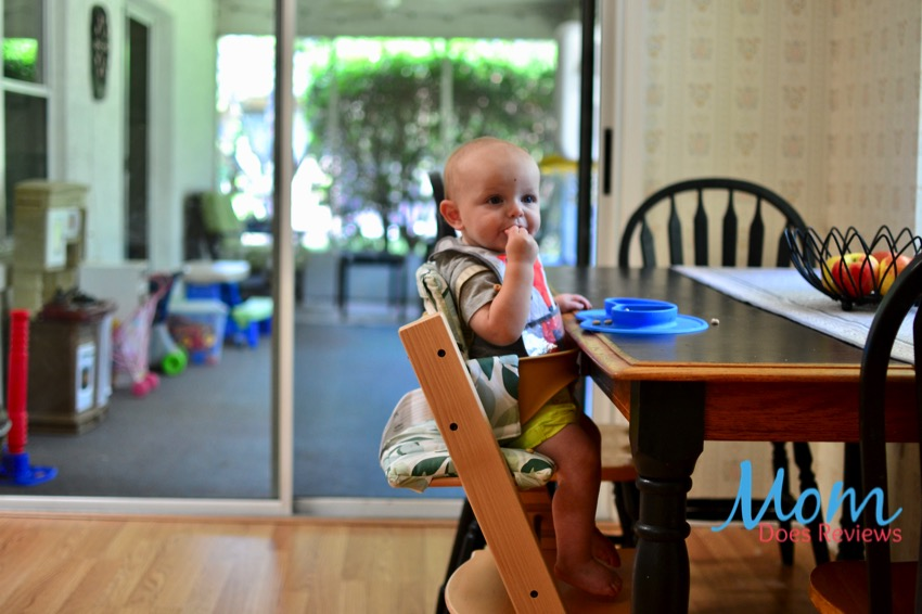 baby in Stokke Tripp Trapp high chair