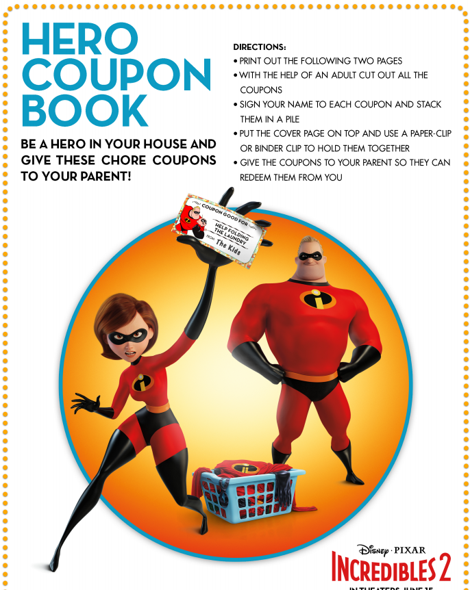 Incredibles 2 Coupon Book