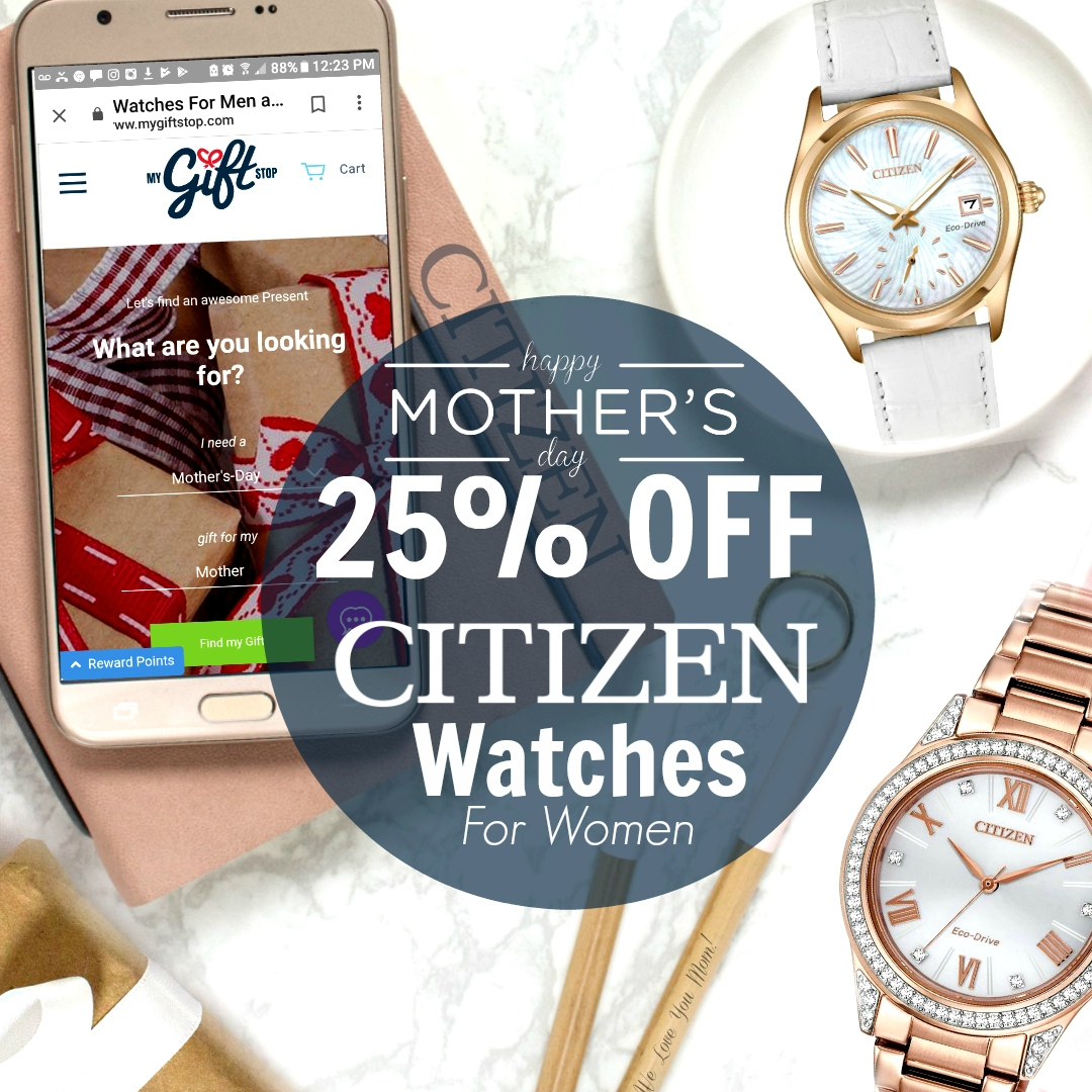 My Gift Stop save $25% off Citizen Watches