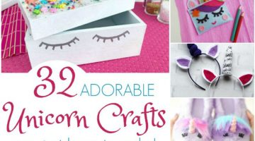 32 ADORABLE and Magical Unicorn Crafts you Just Have to Make!