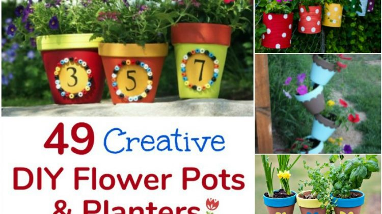 49 Creative DIY Flower Pots and Planters that are Fun and Unique