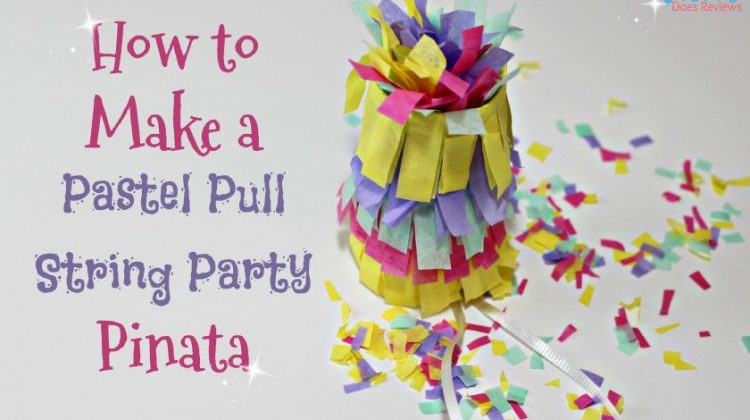 DIY- Make your Own Pastel Pull String Party Pinata