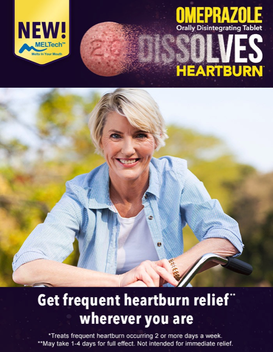 Omeprazole Orally Disintegrating Tablet gives Lasting Heartburn Relief #DissolveHeartburn
