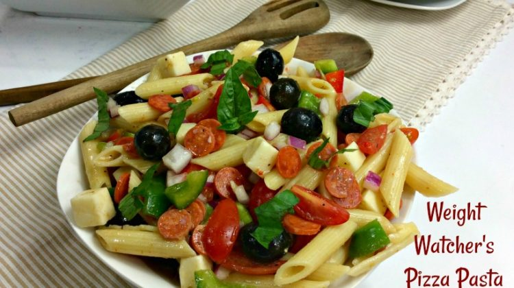 Weight Watcher's Pizza Pasta Salad- 3 pts per Serving!