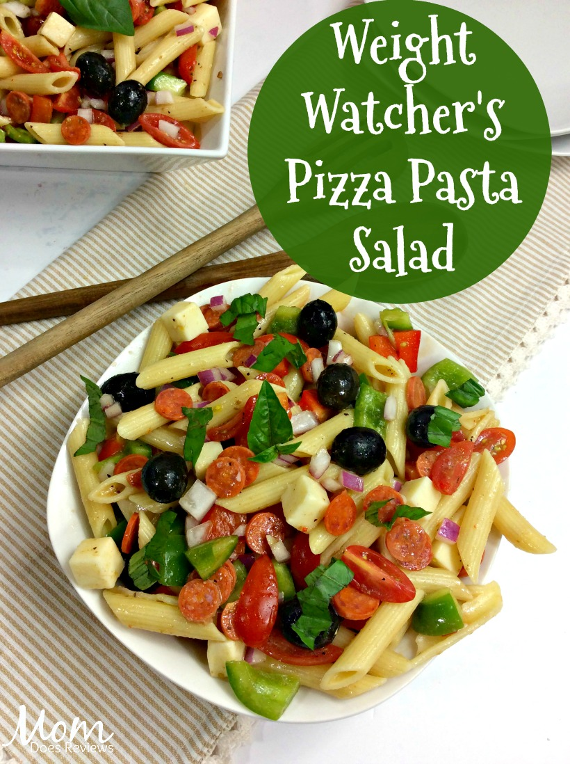 Weight Watcher's Pizza Pasta Salad #recipe #weighwatchers #salad