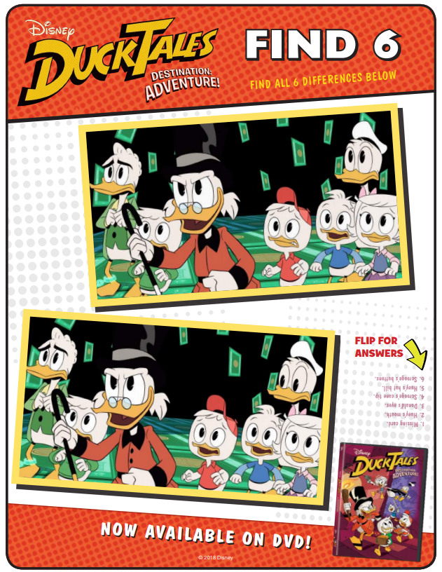 DuckTale Activity Pages