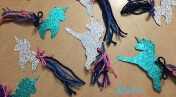 Make Your Own Sparkly Unicorn Bookmark