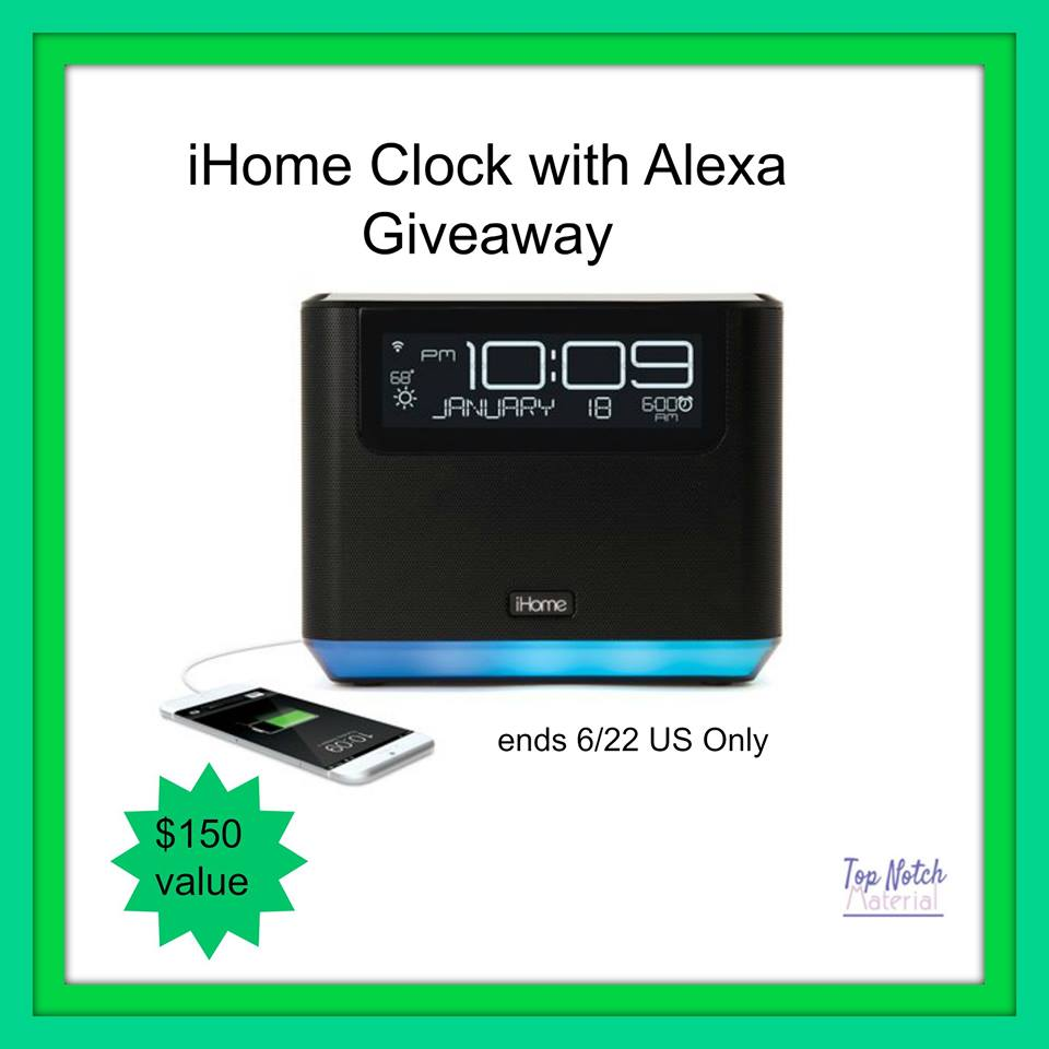 iHome clock with Alexa Giveaway