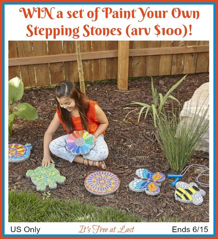 Paint Your Own Stepping Stones (arv $100)